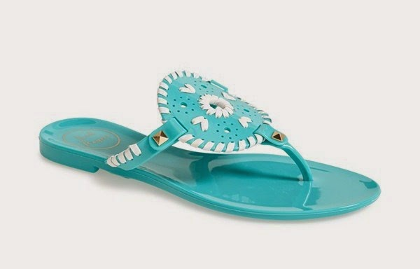 jack rogers jelly georgica sandal blue and white