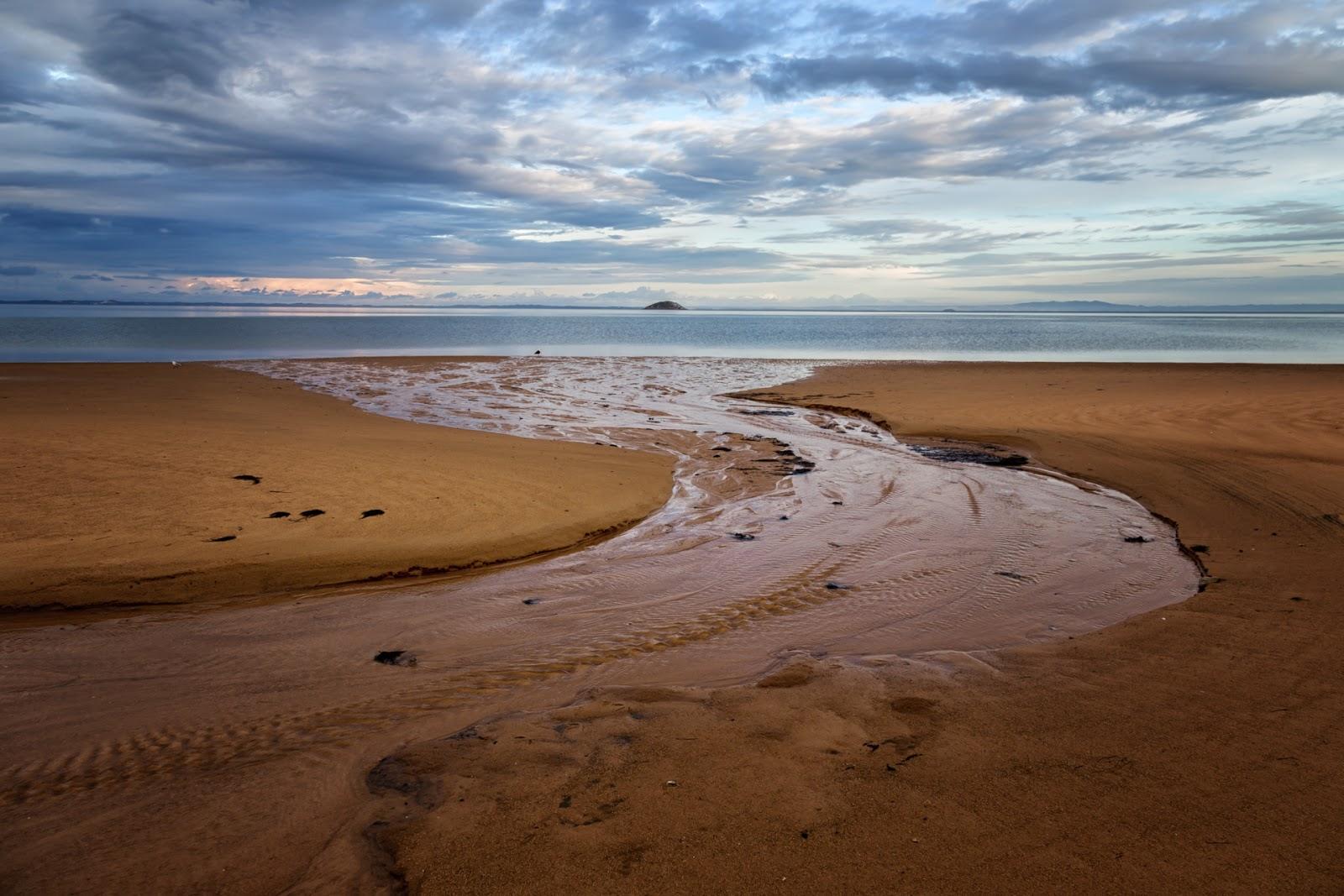 tin mine creek across tin mine cove beach wilsons promontory