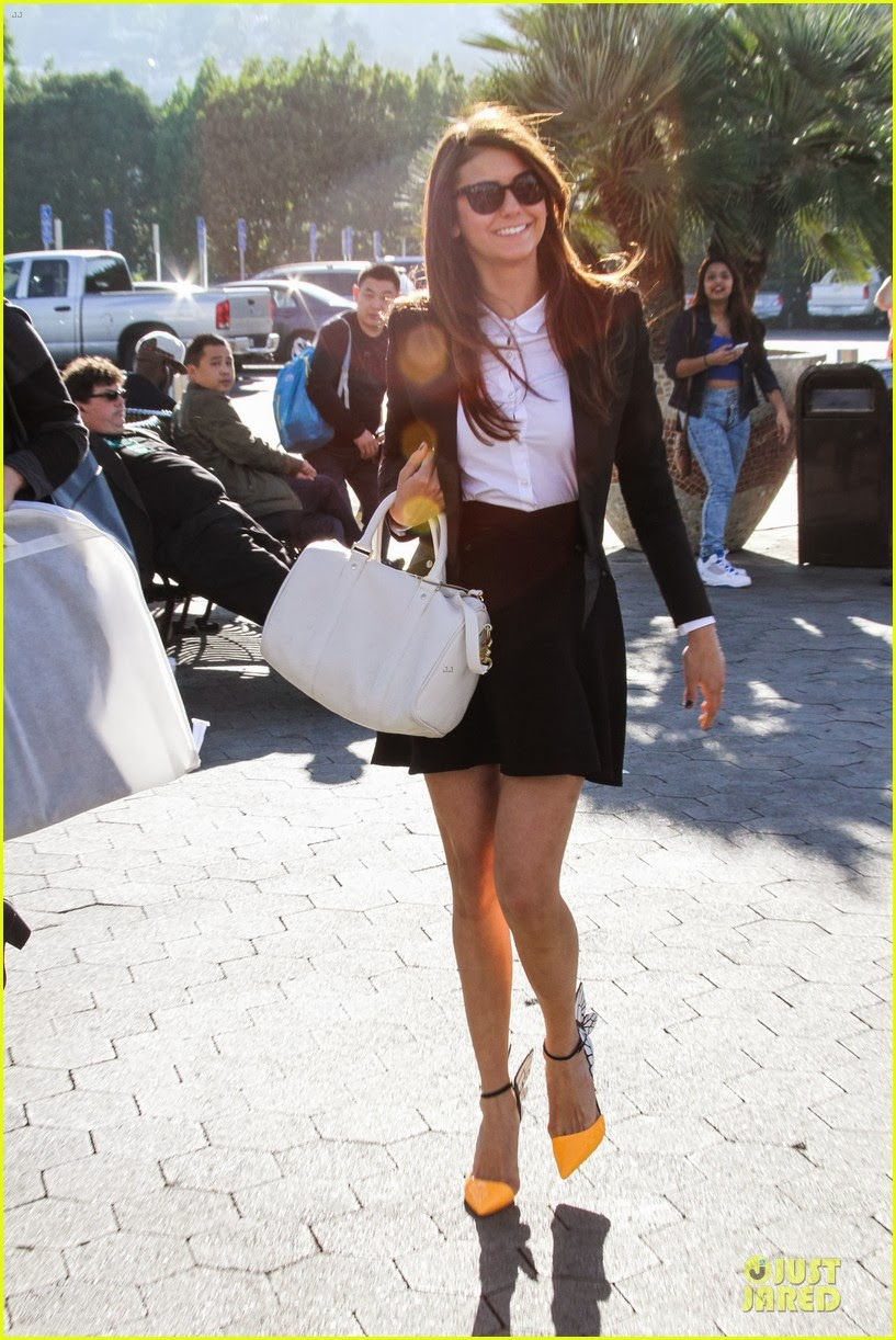 Celeb Diary Nina Dobrev In Universal City California