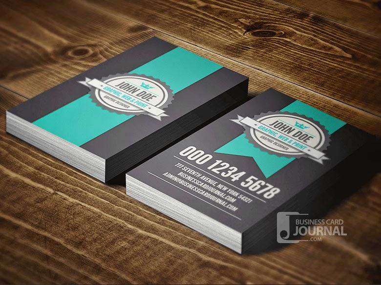 Vertical Retro Business Card PSD Template