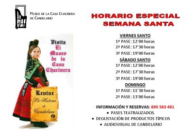 Horario especial de Semana Santa 2011 del museo de Candelario Salamanca