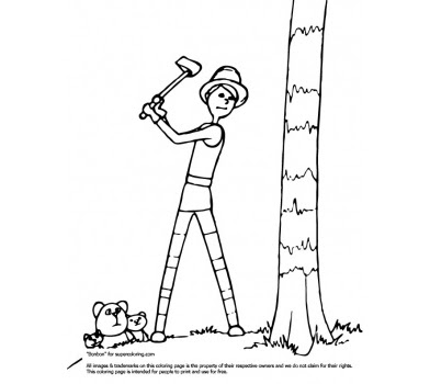 Dr.Seuss the Lorax Cartoon Coloring Pages