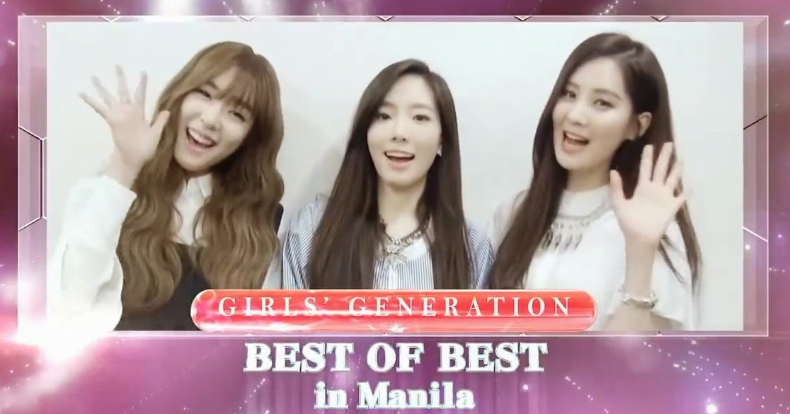 SNSD best of best manila concert