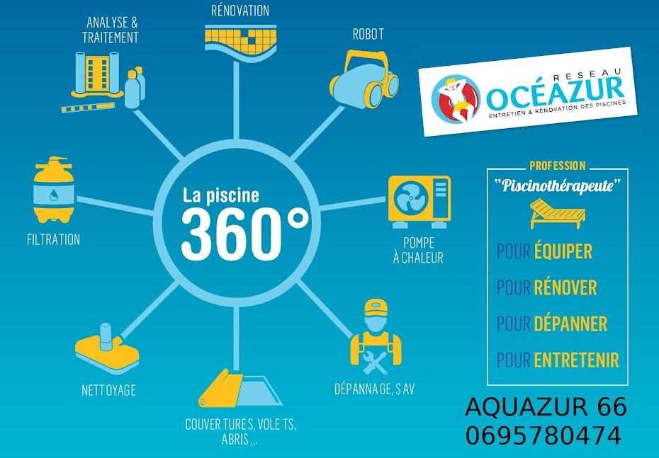 Piscine Perpignan 66 - Aquazur piscine - entretien installation rénovation de piscine 66
