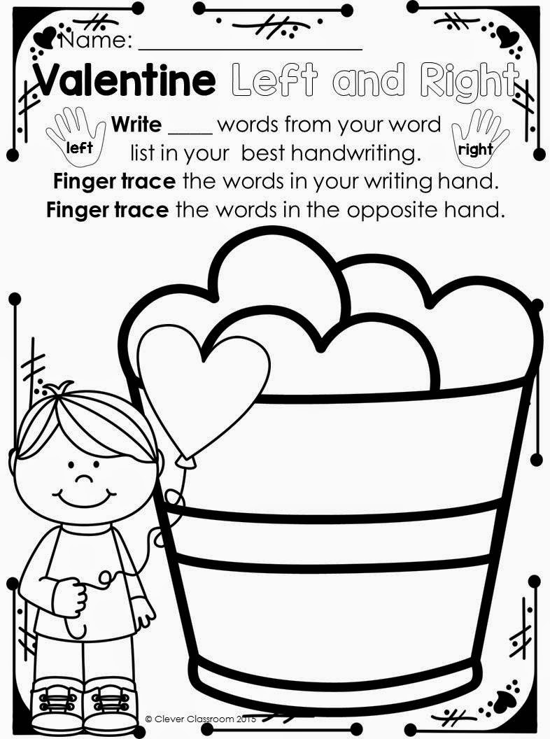 Valentine's Day Printables for any Word List loads of word work printables ready to go!