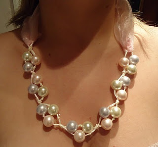 pearl and ribbon knotted necklace tutorial shows the power