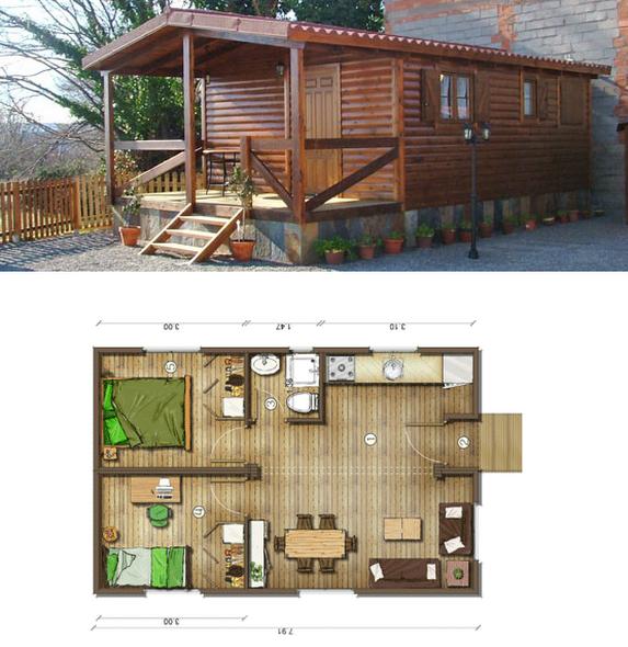 Planos de casas peque as vivir en casa peque a for Casas de madera pequenas
