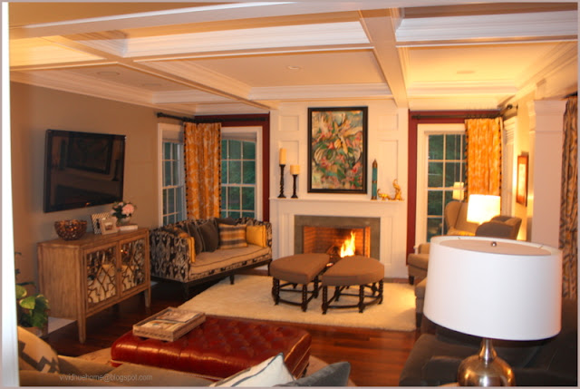 Burgundy Accent Wall Living Room 6 Image