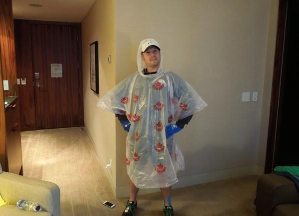Vancouver Marathon 2014 running poncho