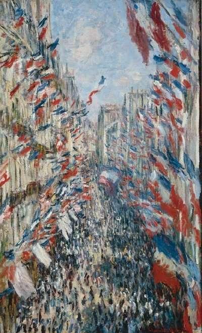 Claude Monet 1840-1926 - French painter - The Rue Montorgueil, Paris 1878 - The Impressionist Flags