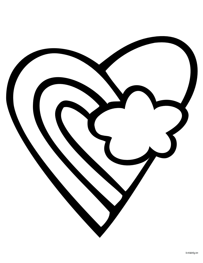 heart peace sign coloring pages - photo#15