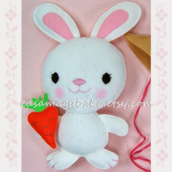 Hand Sewn Bunny Softie by Casa Magubako