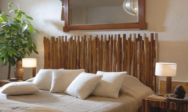 10 ideas de cabeceras para camas decoguia tu gu a de - Cabeceros de madera rusticos ...
