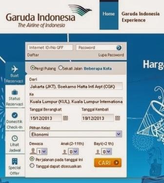 jadwal penerbangan dan info harga tiket garuda indonesia air line