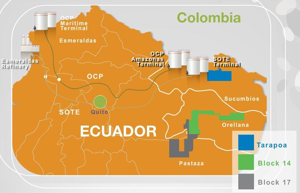 ecuador oil blocks