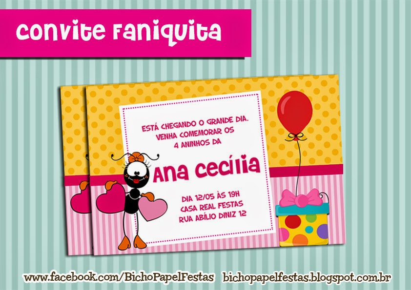 Arte Convite Faniquita