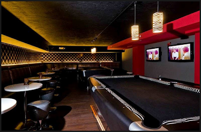 Billiards and beautiful seating at Stardust Lounge