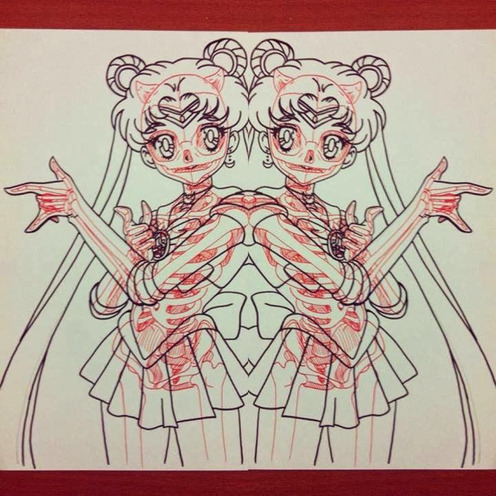 12-Sailormoon-Chris-Panda-X-ray-Comics-Cartoons-Pin-up-Illustrator-www-designstack-co