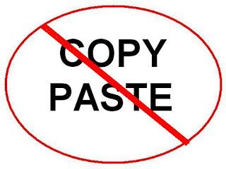 No copy paste