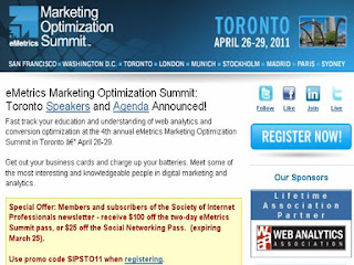 eMetrics Marketing Optimization Summit: Toronto 2011