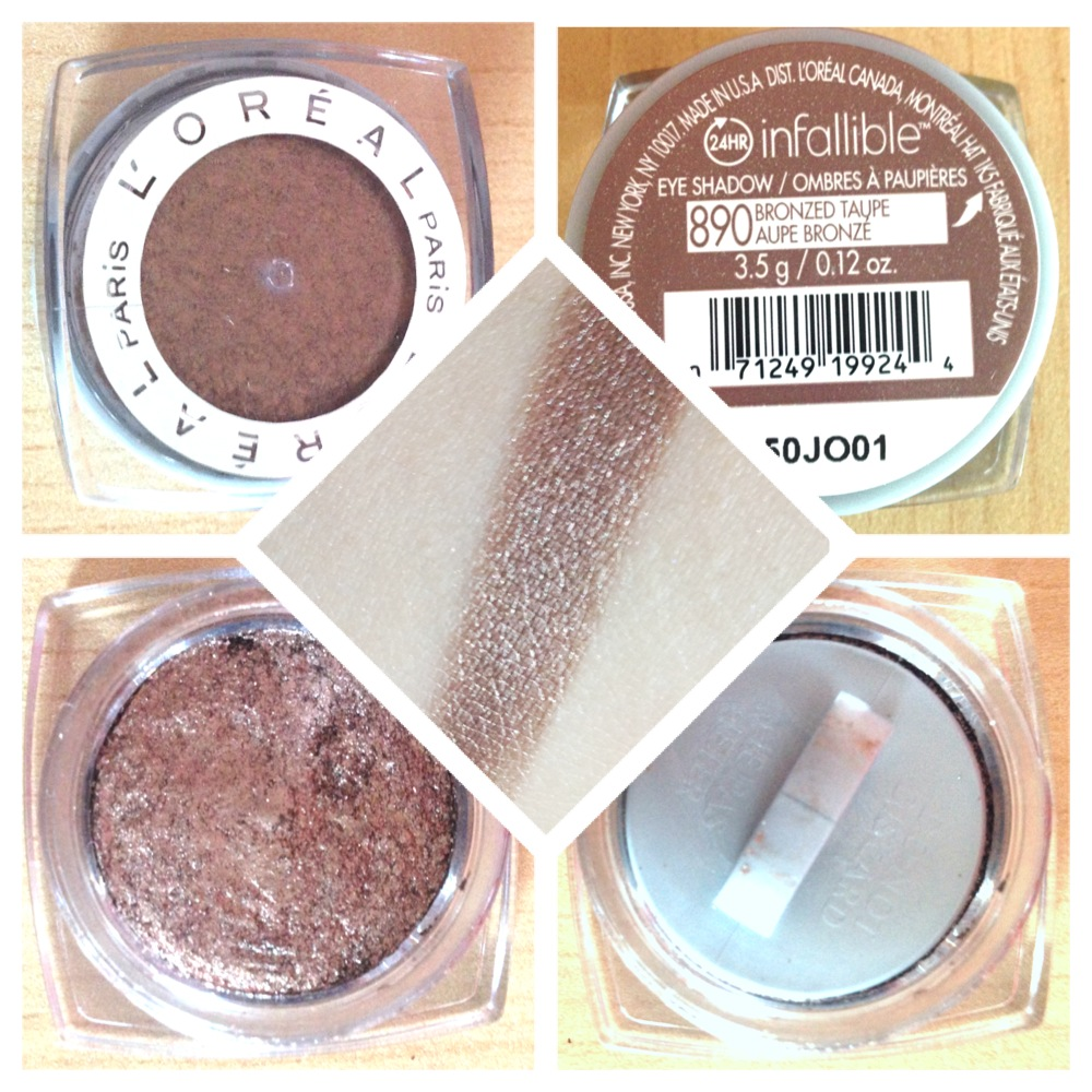 L'Oreal Infallible Eyeshadow in Amber Rush and Bronzed Taupe: Review,Swatches, and Photos   XO ...