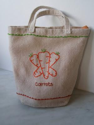 Embroidered vegetable bag