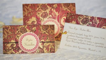 Esküvői meghívó borítékkal