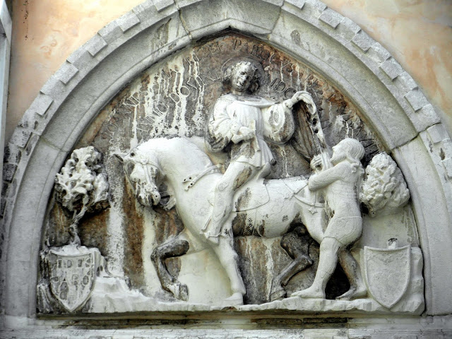 Bas-relief of Saint Martin and the beggar, Venice