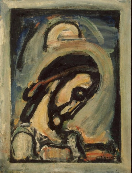 Face of Christ painting by Georges Rouault