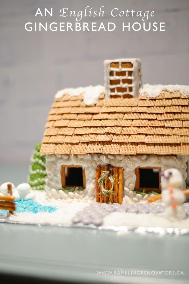 Epic english cottage gingerbread house RamblingRenovators ca