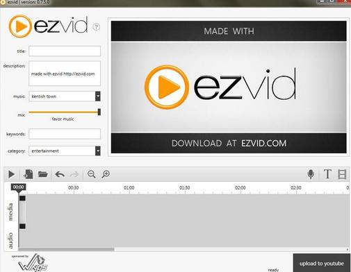 Free Download Software Ezvid, untuk Mengedit Video