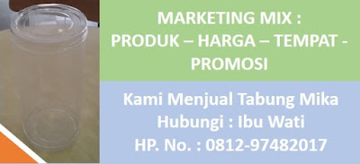 Marketing Mix Grosir Tabung Mika Jakarta