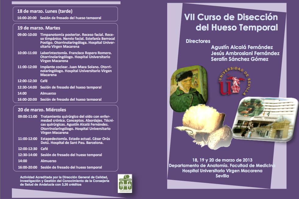 UGC-ORL HUVM: VII CURSO DE DISECCION DEL HUESO TEMPORAL DE LA US ...