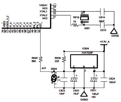 Hình 9 - Mạch tạo dao động và mạch tạo tín hiệu Reset