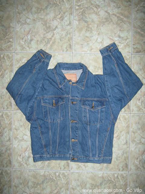 Áo khoác jean nam màu xanh đẹp hàng SI Mỹ 650k