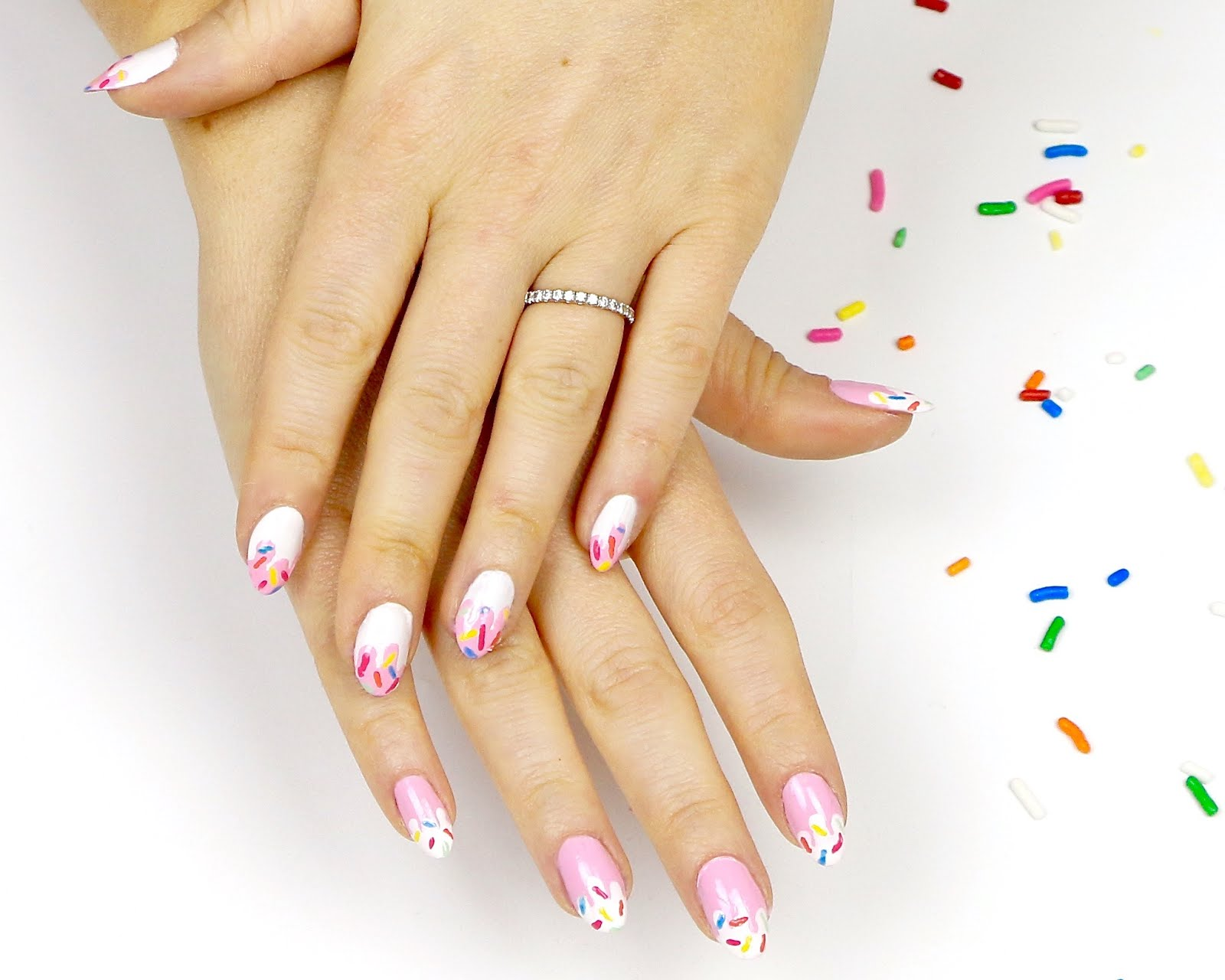 Video Sprinkle Drip Nail Art Design Lindsay Ann Bakes