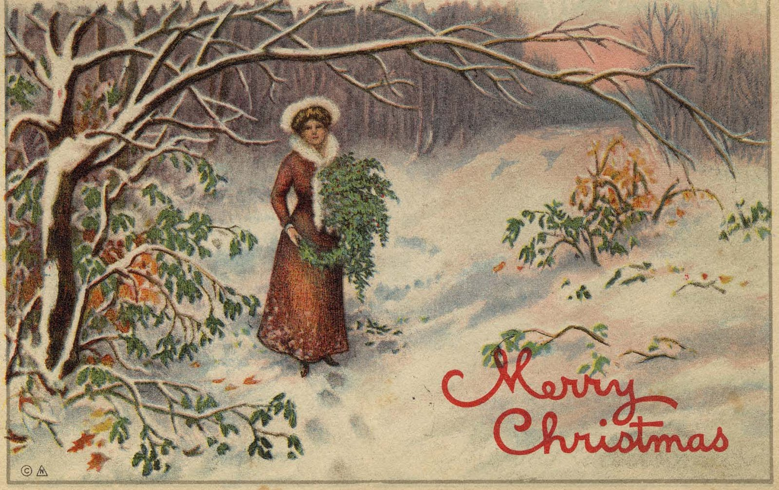 free holiday wallpapers  vintage christmas desktop wallpapers
