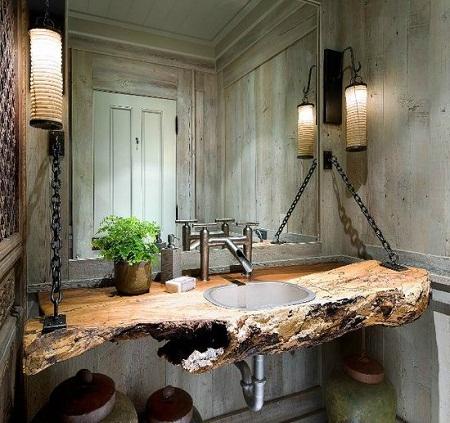 troncos reciclados ideas para decorar y amoblar el cuarto de bao