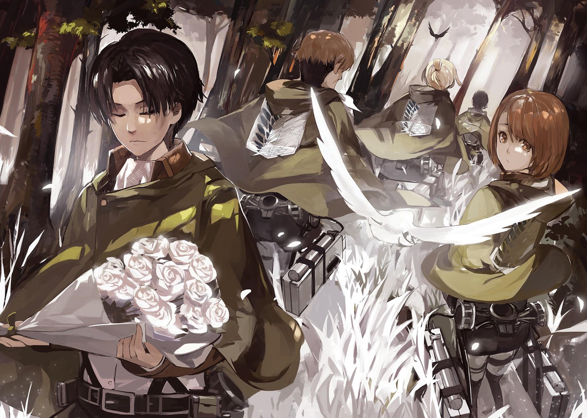 Scouting legion shingeki no kyojin attack on titan animal bird cape