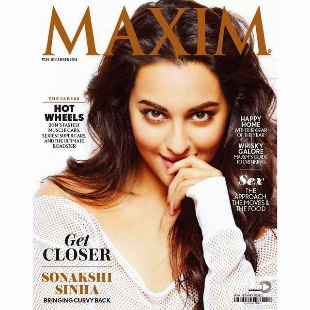 Gorgeous Sonakshi Sinha on cover page of Maxim Indian December issue