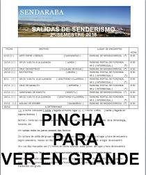 SALIDAS SENDARABA 2º-SEMESTRE 2018