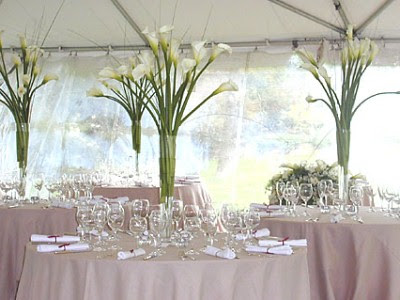 white wedding flower centerpieces