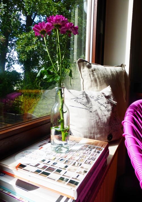 Herbst Blumen Fensterdeko Kissen