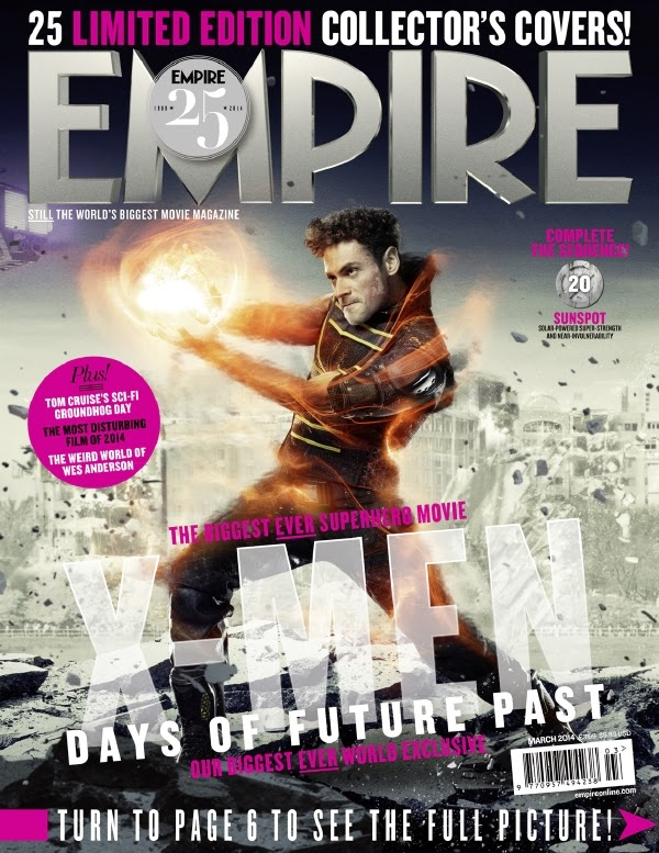 Empire covers X-Men: Days of Future Past: Mancha SOlar (Sunspot)