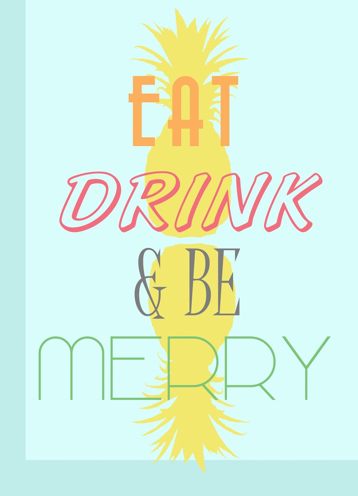 banjelope   u0026quot eat drink  u0026 be merry u0026quot  kitchen printable