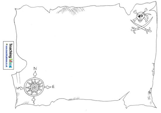 Punchy image with free printable pirate treasure map