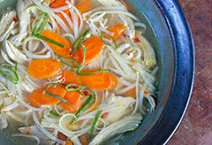 Chicken Soup for the Soul w/ Rice Noodles & Sesame Oil