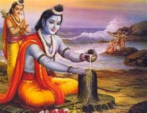 Worshiping Shivaling