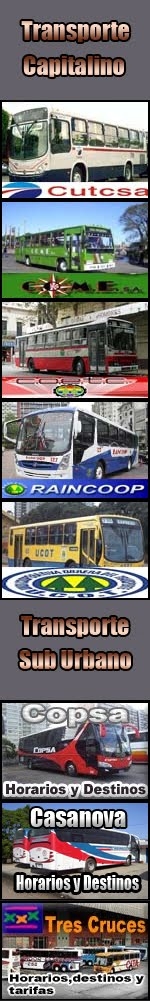 horarios de omnibus