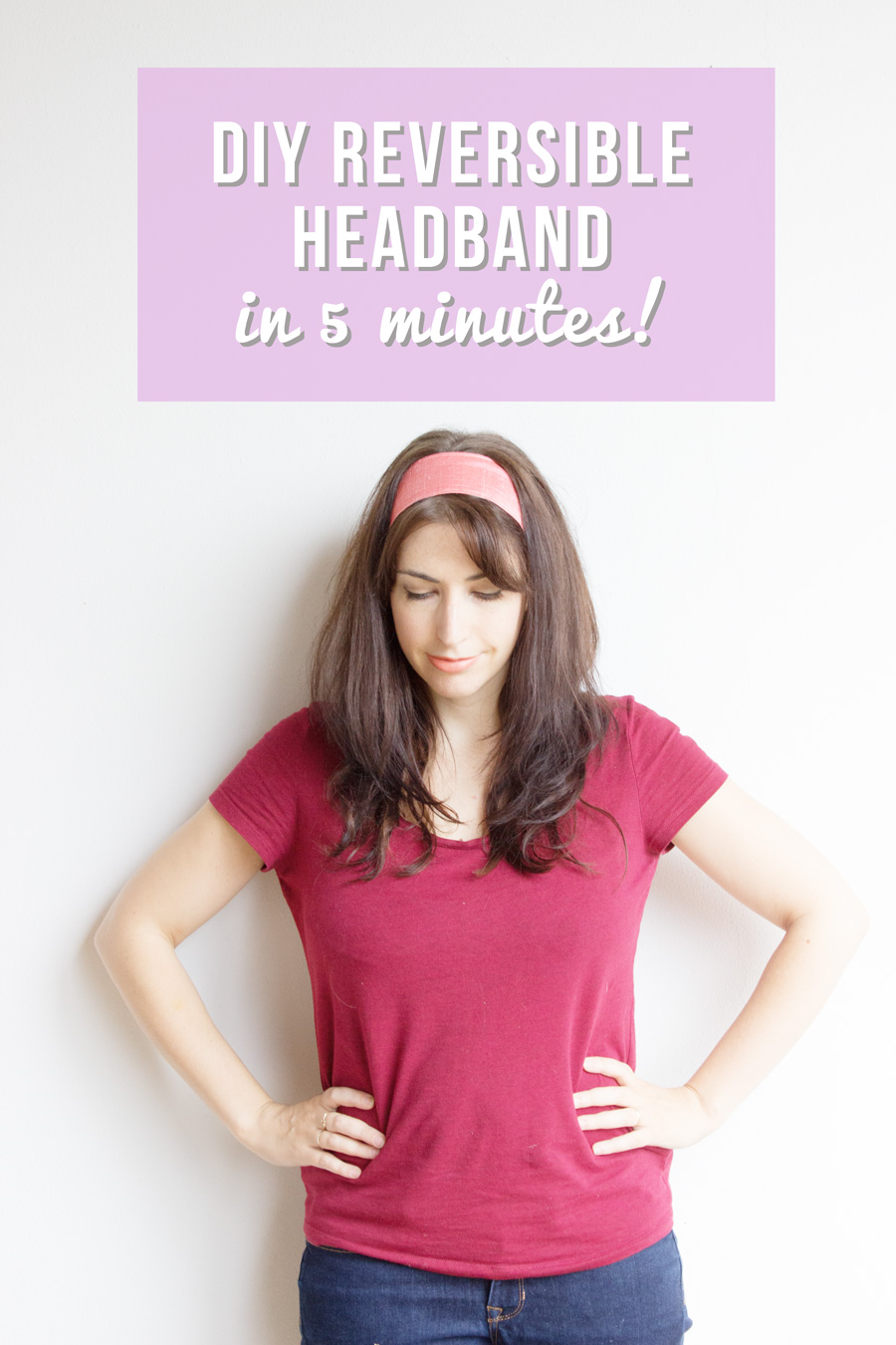 how to sew a DIY reversible headband with vintage scarves